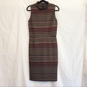 Bar III Sleeveless Mock Neck Body Con Dress